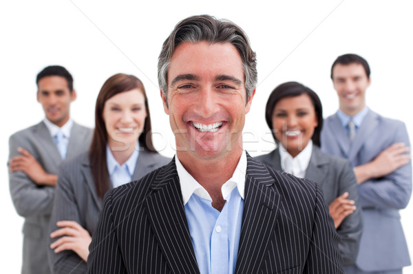 Smiling business team showing the diversity Stock photo © wavebreak_media