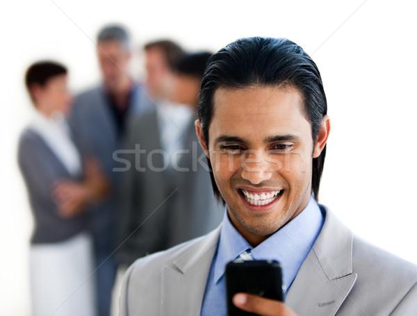 Enfoque étnicas empresario texto blanco Foto stock © wavebreak_media