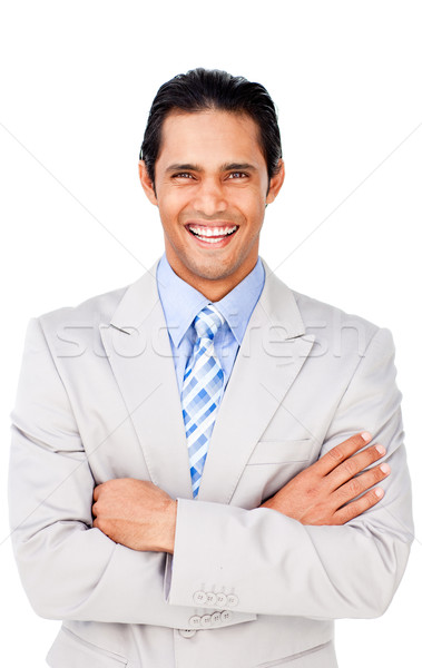 Stock photo: Attractive businessman with folded arms