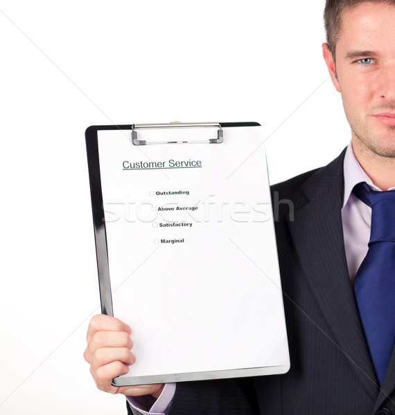 businessman holding a customer service  Stock photo © wavebreak_media