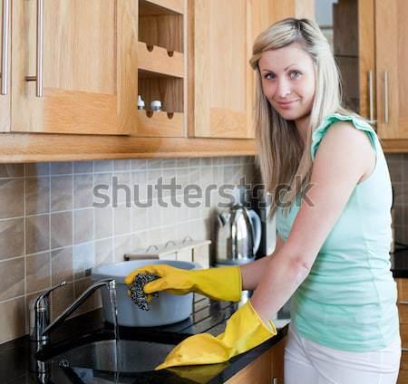 Donna lavori di casa cucina mano home Foto d'archivio © wavebreak_media