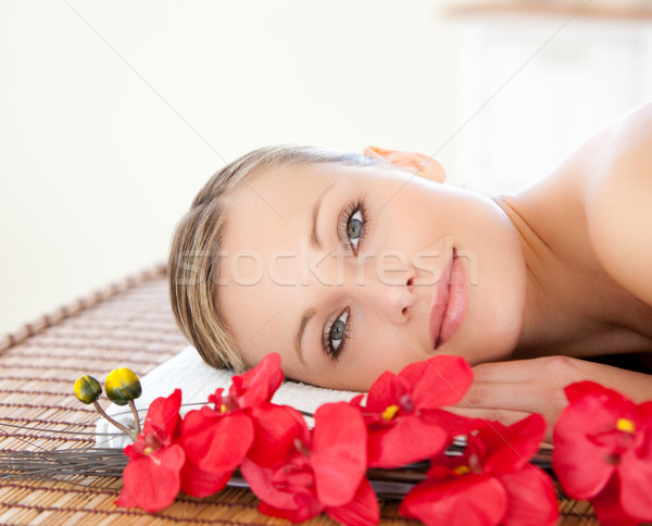 Radiant woman relaxing in a Spa center Stock photo © wavebreak_media