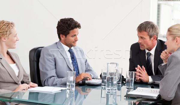 Coworkers during a meeting at work Stock photo © wavebreak_media