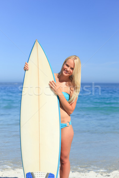 Kadın sörf bikini okyanus genç kişi Stok fotoğraf © wavebreak_media