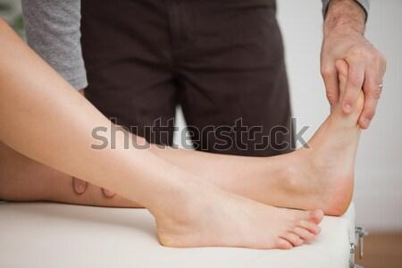 портрет массажистка ногу человека Сток-фото © wavebreak_media
