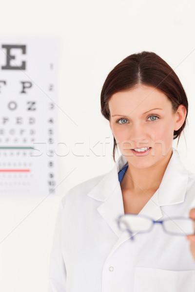 Femenino óptico gafas examen de la vista ojos Foto stock © wavebreak_media