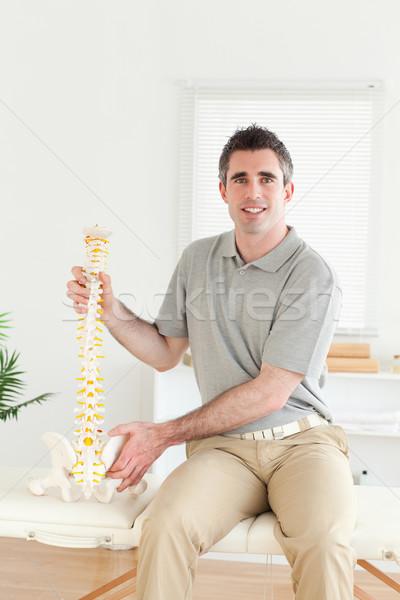 Chiropractor bakıyor kamera oda ofis Stok fotoğraf © wavebreak_media