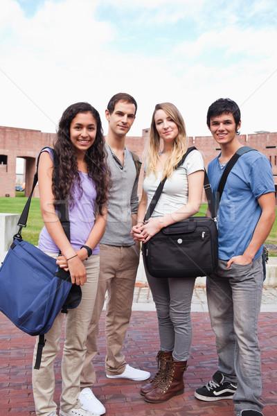 Portrait of fellow students posing outside a building Stock photo © wavebreak_media