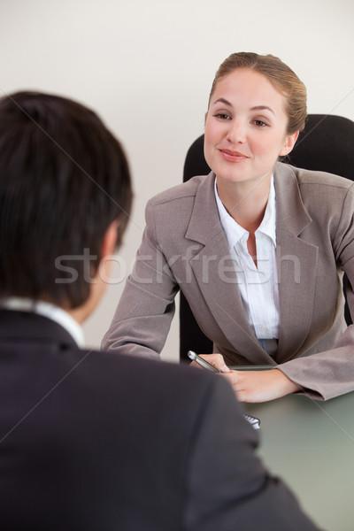 портрет менеджера мужчины заявитель служба работу Сток-фото © wavebreak_media