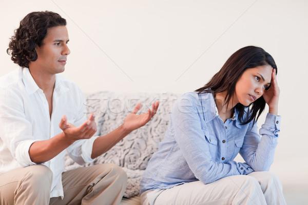 Fiatal férfi barátnő szeretet pár düh Stock fotó © wavebreak_media