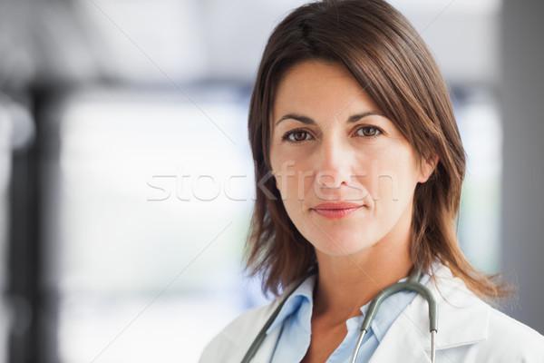 Lekarza szpitala korytarz kobieta kobiet stetoskop Zdjęcia stock © wavebreak_media