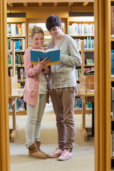 çift ayakta kütüphane raflardan bakıyor kitap Stok fotoğraf © wavebreak_media