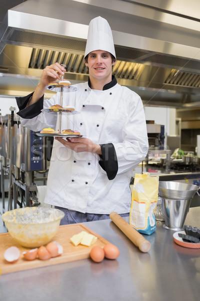 Zdjęcia stock: Ciasto · kucharz · ciasto · taca