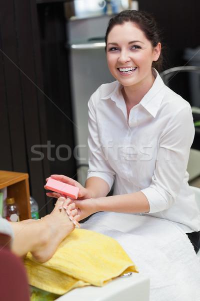 Donna toe chiodi spa centro ritratto Foto d'archivio © wavebreak_media