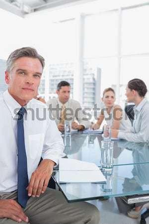Mujer cuestión reunión de negocios sala de conferencias gente de negocios Foto stock © wavebreak_media