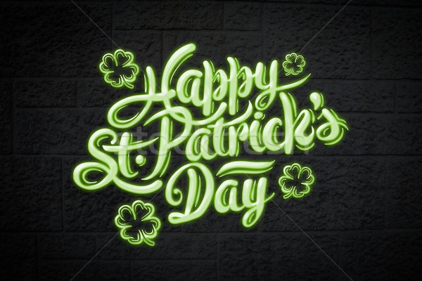 Composite image of patricks day greeting Stock photo © wavebreak_media