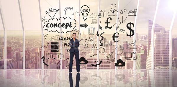 Composite image of confident businesswoman Stock photo © wavebreak_media