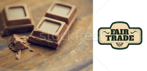Composite image of fair trade graphic Stock photo © wavebreak_media