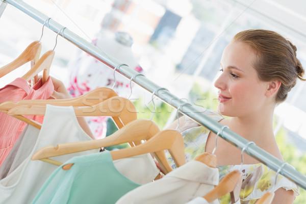 Photo stock: Heureux · Homme · client · vêtements · magasin