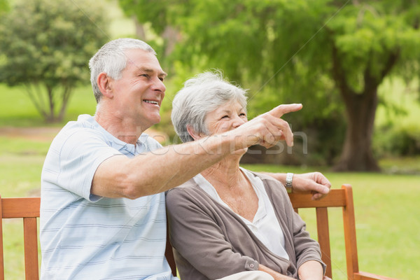 Side view of a senior couple at the park Stock photo © wavebreak_media