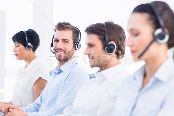 бизнеса коллеги вид сбоку группа служба Сток-фото © wavebreak_media