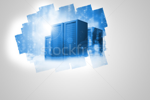 Display on wall showing server tower Stock photo © wavebreak_media