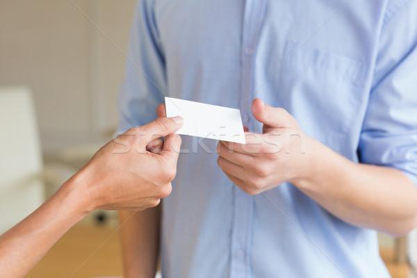 Business people exchanging visiting cards Stock photo © wavebreak_media
