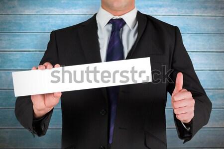 Maturité affaires carte vierge blanche Photo stock © wavebreak_media