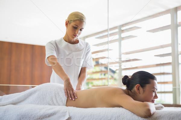 Morena pacífico masaje spa hotel Foto stock © wavebreak_media