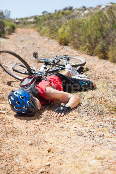 Gewond fietser grond crash fiets Stockfoto © wavebreak_media