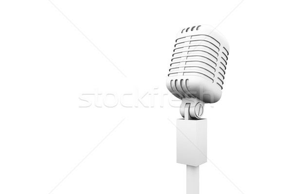 Digitaal gegenereerde retro witte microfoon Stockfoto © wavebreak_media