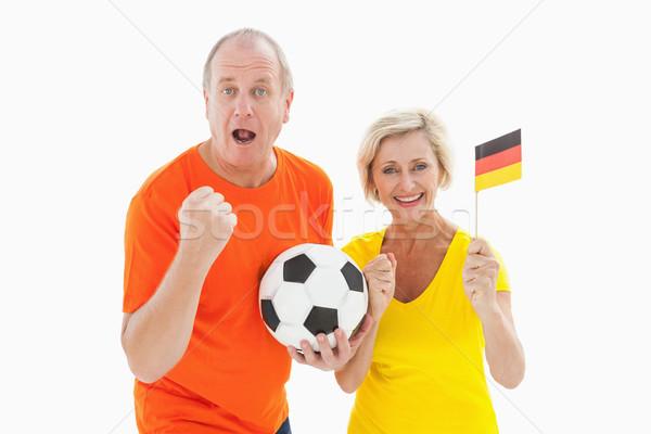 Gelukkig paar juichen camera bal Stockfoto © wavebreak_media