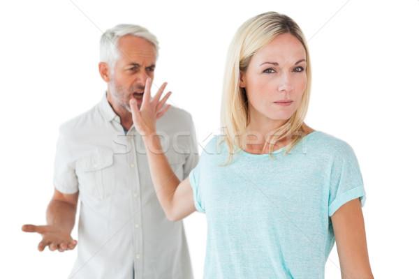 Nő nem figyel mérges partner fehér kéz Stock fotó © wavebreak_media