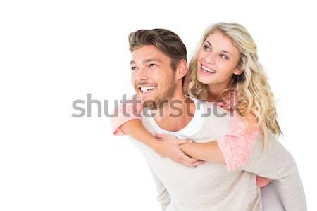 красивый мужчина назад подруга белый человека Сток-фото © wavebreak_media