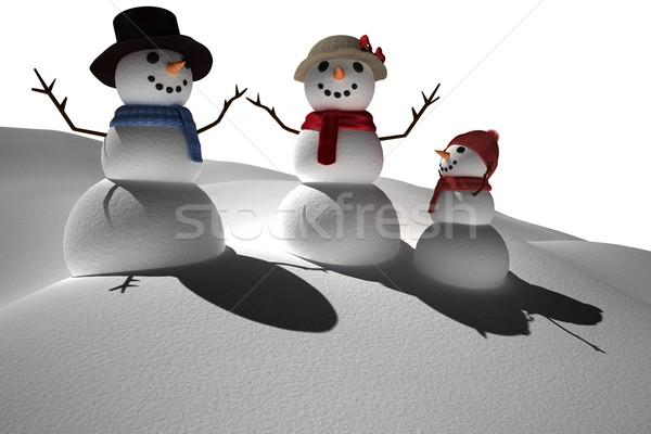генерируется белый снега семьи Сток-фото © wavebreak_media