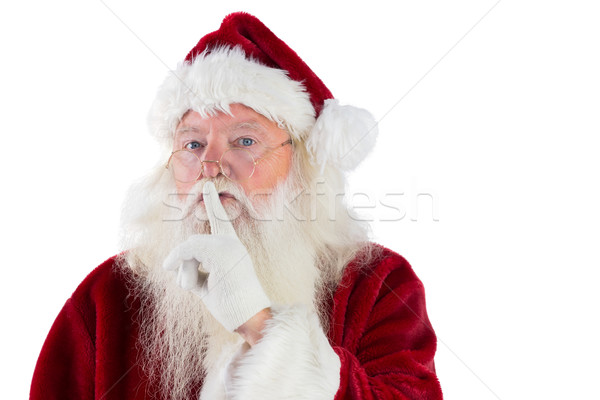 Santa asking for quiet to camera Stock photo © wavebreak_media
