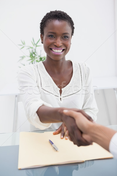 Smiling businesswoman introduced her new colleague  Stock photo © wavebreak_media