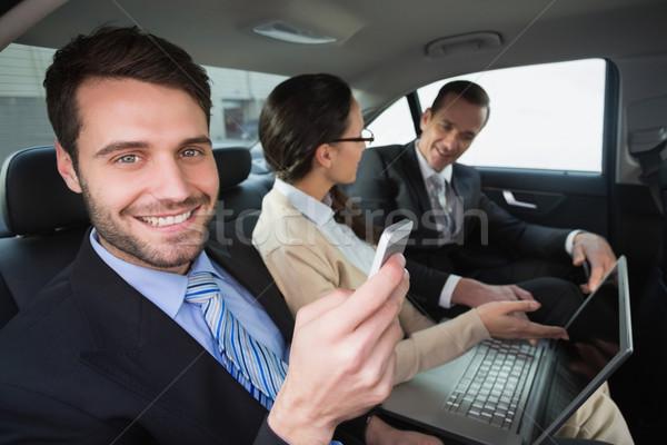 Zespół firmy pracy powrót siedziba samochodu drogowego Zdjęcia stock © wavebreak_media