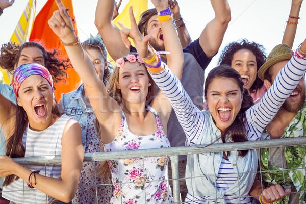 возбужденный молодые люди пения музыку вечеринка Сток-фото © wavebreak_media