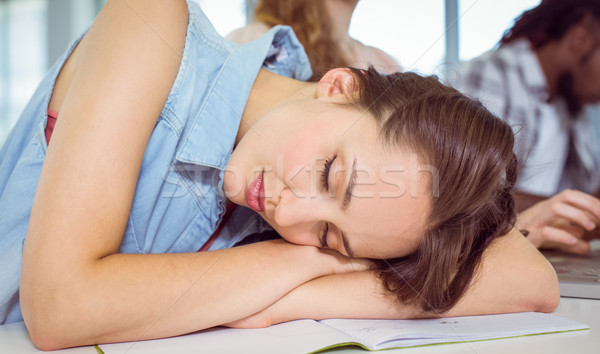 Student dozing during a class Stock photo © wavebreak_media