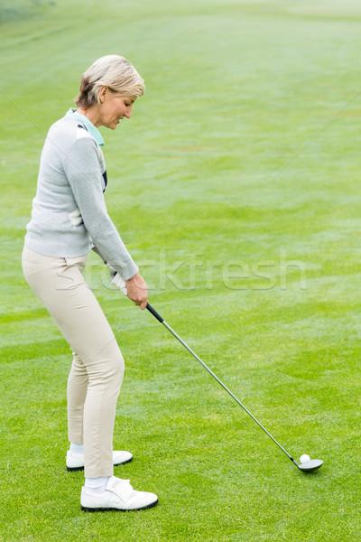 Pani golfa zielone mglisty dzień golf Zdjęcia stock © wavebreak_media