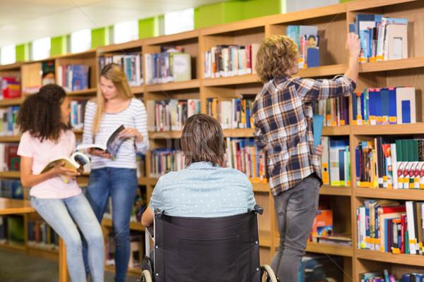 College students in library Stock photo © wavebreak_media