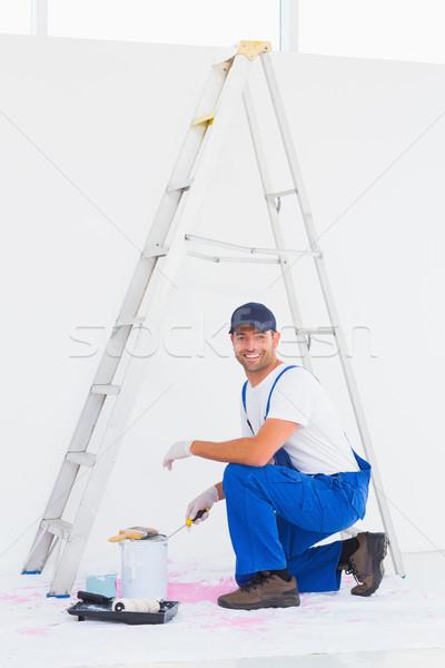 Handyman abertura casa retrato Foto stock © wavebreak_media