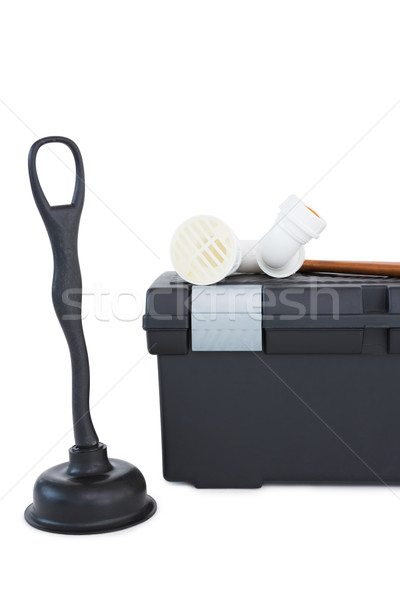 Plunger and toolbox  Stock photo © wavebreak_media