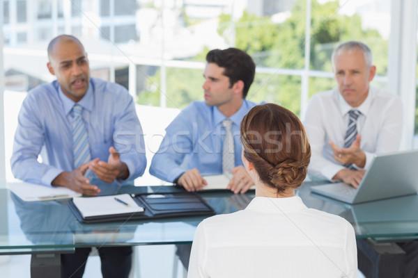 Empresária trabalhar entrevista escritório mulher reunião Foto stock © wavebreak_media