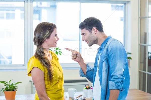 Gündelik iş ekibi tartışma ofis kadın adam Stok fotoğraf © wavebreak_media