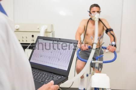 Magazynu kierownik komputera człowiek zdrowia Zdjęcia stock © wavebreak_media