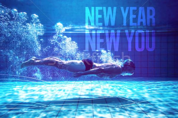 Immagine montare nuotatore formazione capodanno Foto d'archivio © wavebreak_media