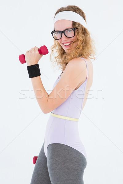 Stwarzające odzież sportowa biały fitness Zdjęcia stock © wavebreak_media