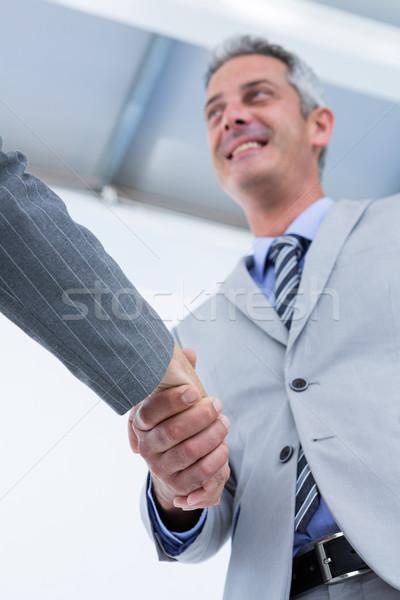 бизнесмен рукопожатием деловая женщина белый человека рукопожатие Сток-фото © wavebreak_media